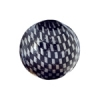 Checker Beads Round 22mm Silver/black